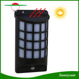 Semicolumn 모양 태양 에너지 PIR 운동 측정기 LED 가벼운 IP65는 옥외 정원 벽 야드를 위한 태양 램프를 방수 처리한다