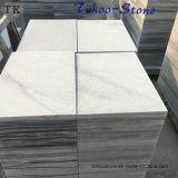 Struik-gehamerde Grijze Witte Marmeren Tegel