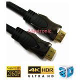 Goud Geplateerde Kabel HDMI met Nylon Vlecht 1.4V