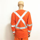 Vêtements de travail antistatiques fluorescents ignifuges avec la bande r3fléchissante