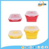 Складные коробки обеда силикона 4 тары для хранения еды размеров самонаводят Kitchenware