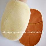 Перчатка мытья Microfiber синтетических шерстей