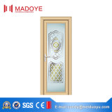 Puerta tradicional del cuarto de baño del vidrio helado