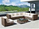 Poly rotin et mobilier en aluminium, canapé en rotin extérieur