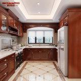 Module de cuisine en bois solide moderne de peinture de meubles de cuisine (GSP5-049)