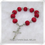 Rose Beads Finger Rosary et Cross Finger Rosary (IO-CE061)