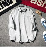 Personnaliser la chemise à manches longues à manches longues en coton Oxford