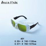 Dioden-Laser-Maschinen-Schutz-Glas-Augen-schützende Sicherheits-Schutzbrillen des hohe Sicherheits-Laser-Schutz-Sicherheitsgläseralexandrite-808&980nm, Sicherheitsgläser