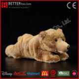 아이를 위한 현실적 채워진 장난감 갈색 곰 연약한 갈색 곰 견면 벨벳 장난감