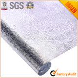 Pano de mesa em laminado de prata de folha metálica