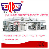 Machine à grande vitesse de laminage de film plastique de série de Qdf-a