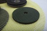 거친 플랩 바퀴를 위한 섬유유리 역행 패드