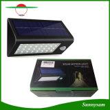 Sensor de movimiento de luz LED Solar lámpara de jardín de montaje en pared con tres modos