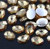 Plastic Bergkristal van de Bodem van de Gemmen van de Kwaliteit van China Taiwan het Acryl Kleurrijke Vlakke (fB-Navette 18*25)