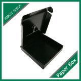 Rectángulo negro de encargo con la venta al por mayor blanca de la impresión de la insignia