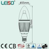 5W 90ra E14/B15の炎の形のDimmable LEDの蝋燭の球根(LS-B305-SB-A-CWWD/CWD)