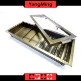 Estilo de fábrica de Metal da camada de Chip de póquer bandeja com 5 fileiras de Chips Redonda / 3- Round Chips Quadrados Ym-CT17