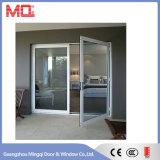 Double porte en aluminium en verre d'oscillation