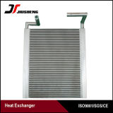 Réfrigérant à huile en aluminium personnalisé d'excavatrice d'ailette de plaque de modèle