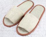 Tipo de linho deslizador da sola de /PU do deslizador do dedo do pé de /Open de pano