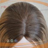 Pelucas superiores de seda del pelo humano del color mezclado rubio superventas de Ight Brown de la longitud del hombro