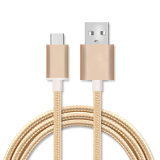 Datos de carga de nylon Macho A USB 2.0 Cable tipo C 3.1.