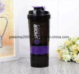600ml 3 Schichten Schutzkappen-Verschluss-Plastikschüttel-apparatprotein-Flaschen-