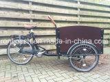 ペダルか250With350With500W Elektrische Bakfietsか電気貨物Trikeまたは貨物Eバイクまたはグループの貨物Tricycle/3車輪の貨物自転車または交通機関のTrike Wフードおよびカバー