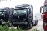 10 속도 기어 박스를 가진 짐 트레일러 트럭을 운반하는 Sinotruk 420HP
