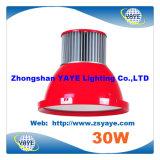 Luz industrial de la luz 30W LED de la bahía de la MAZORCA 30W LED de la alta calidad del precio de fábrica de Yaye 18 alta con Ce/RoHS