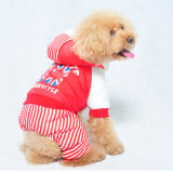 Strip Dog Winter Clothing Warm Pet Clothes