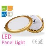 Redonda de aluminio Electroplated Oro 5W de luz de panel LED