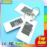 Kundenspezifische Drucken Belüftung-Gepäck-Marken-Schlüsselmarke mit Metallring