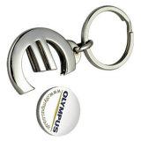 OEM para requisitos particulares del logotipo del metal del acero inoxidable de la aleación de la carretilla de la moneda llavero