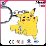 Customized Made Silver Color Filled Cute Pokemon Keychain para presente