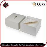 Logotipo personalizado papel cuché cartón Caja de almacenamiento de regalo