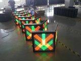 Cruz vermelha de piscamento do diodo emissor de luz & luz de sinal verde do tráfego do controle da pista da seta