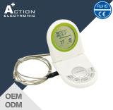 De digitale BBQ van het Voedsel Thermometer van Vouwen met Sonde en Tijdopnemer