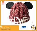 Chapéu bonito da forma do rato do inverno