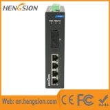 Interruptor de rede Ethernet Industrial de 5 Megabit Port Fiber