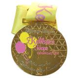Médaille de fabrication directe de récompense de sport de natation d'usine avec la bande (XD-03028)