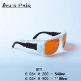 Vidros protetores, de laser do ND YAG vidros protetores, vidros de proteção de laser 1064nm dos óculos de proteção de segurança e 532 nanômetro
