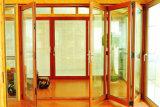 ألومنيوم [بي] [فولدينغ دوور] لون خشبيّة مع زجاج وحيدة مزدوجة