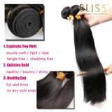 Menschenhaar-Jungfrau-malaysische Haar-Webart-Schwarz-Farbe 100%