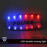 LEDの再充電可能な警察の公共の交通安全のバイザーの赤く青いこはく色の緑の白いトーチのためのセリウムIP65 RoHSが付いている警告の肩ライト