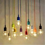 Современный бар Lemonbest Loft силиконового герметика висящих патрон лампы приспособление DIY потолочный подвесной светильник лампа тени держатель разъема E27 (зеленый)