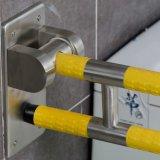 Barra di gru a benna pieghevole della strumentazione della toletta di nylon Handicapped della stanza da bagno per i handicappati