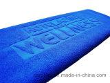 100% хлопок соткана из жаккардовой ткани тисненым логотипом пляж полотенце