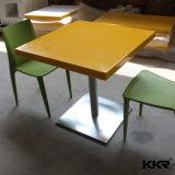 Marbre artificiel Square Table et chaises de fast-food