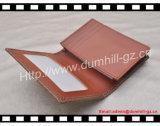 Специальный держатель визитной карточки выбитой кожи с окном удостоверения личности Transperant